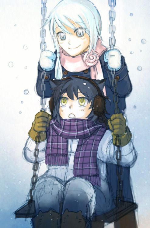 Winter day ~ Mei once dye her hair all white in the snow by ookaminoki
