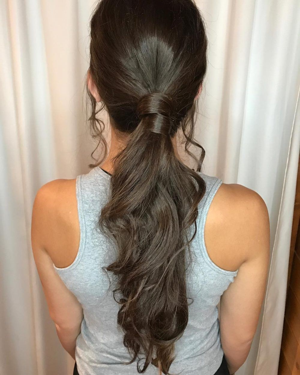 18 Greatest Long Hairstyles For Women With Long Hair In 2021 Low Ponytail Hairstyles Cute Hairstyles Hair Styles