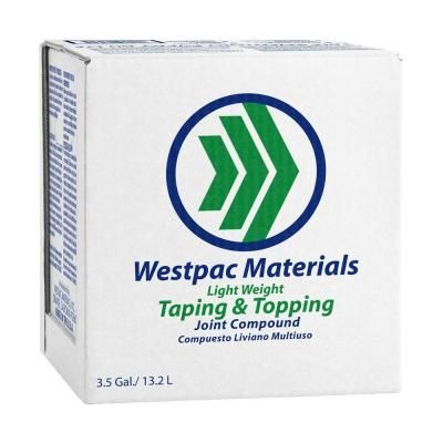 Westpac Materials 3 5 Gal Lightweight Taping And Topping Pre Mixed Joint Compound 18170h The Home Depot Material Tape Home Depot