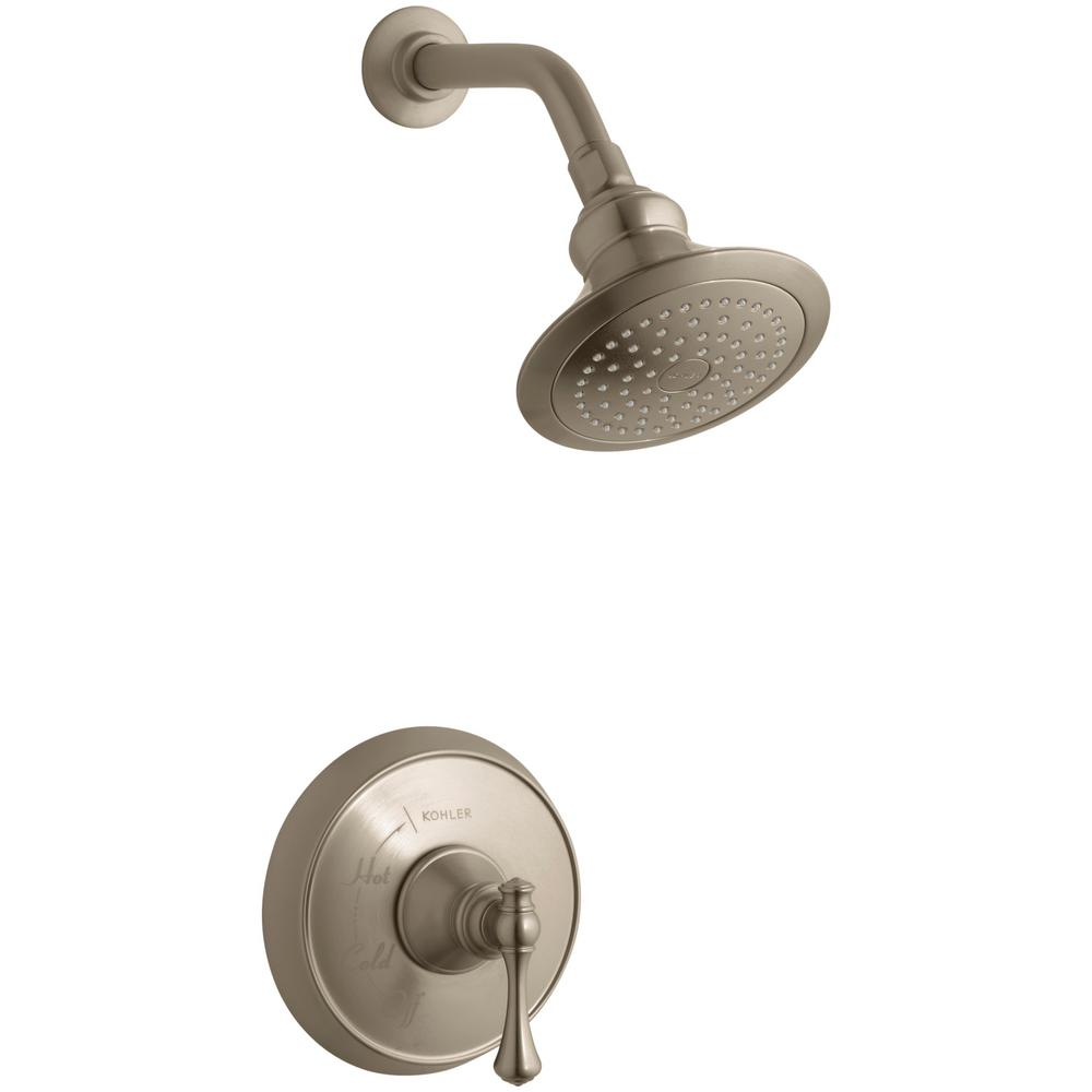Kohler Revival 1 Spray 6 5 In Single Wall Mount Fixed Shower Head
