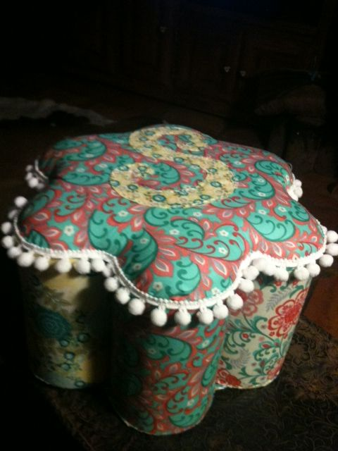 Handmade Stool Footstool Made With Fruit Juice Cans