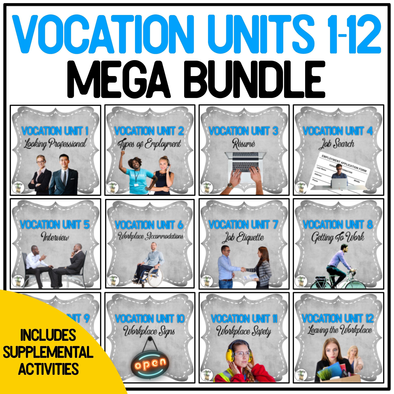 Vocation Units 1 12 Full Year Mega Bundle Supplemental