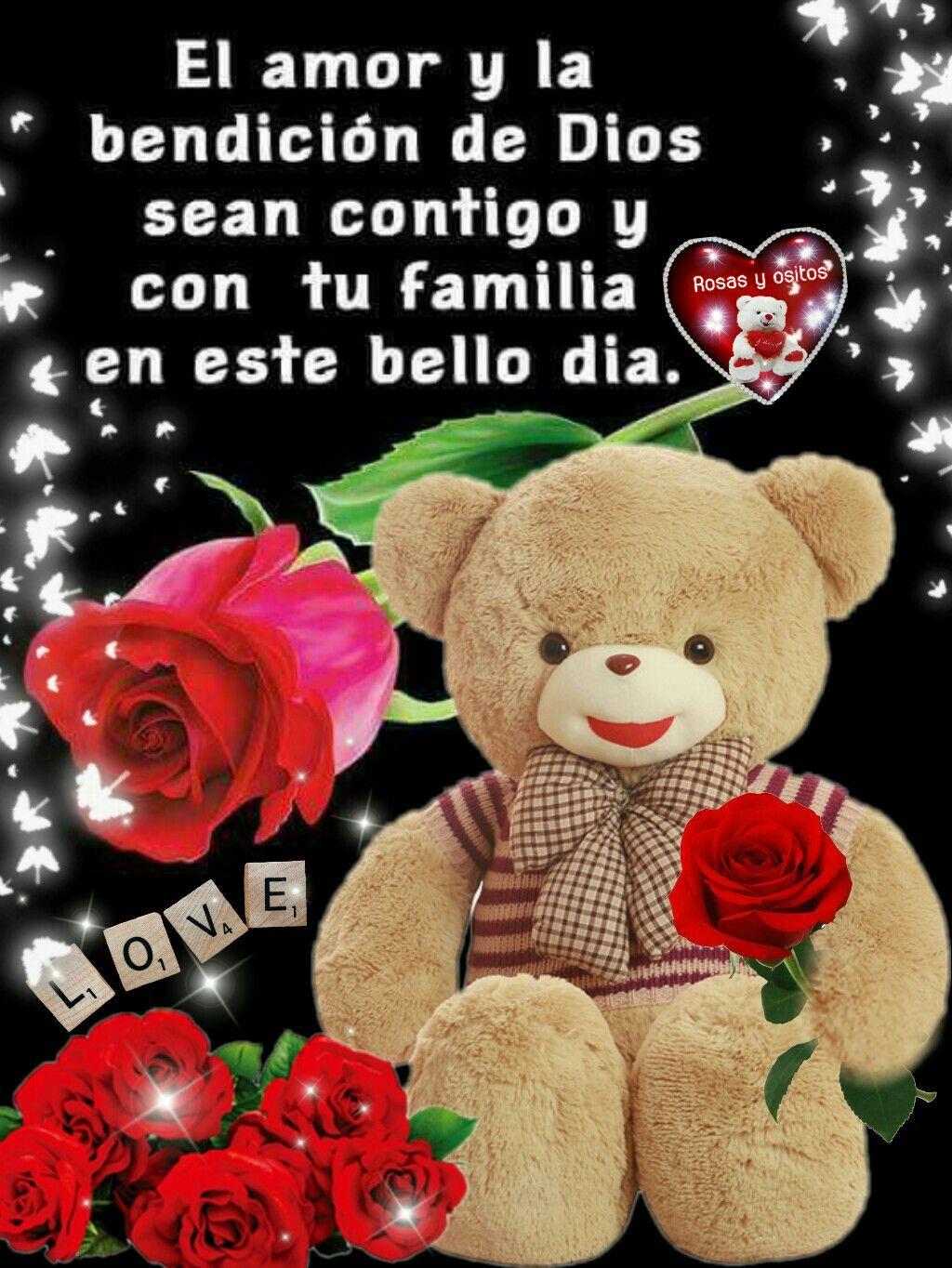 Poemas De Amor Osos Rosas Y Corazones Mi Amor Buenos Dias Mensajes Buenos Dias Amor Frases