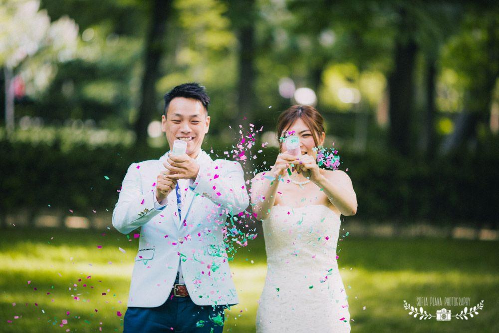 Diy Pushpop Confetti Overseas Pre Wedding Photo Madrid El Retiro