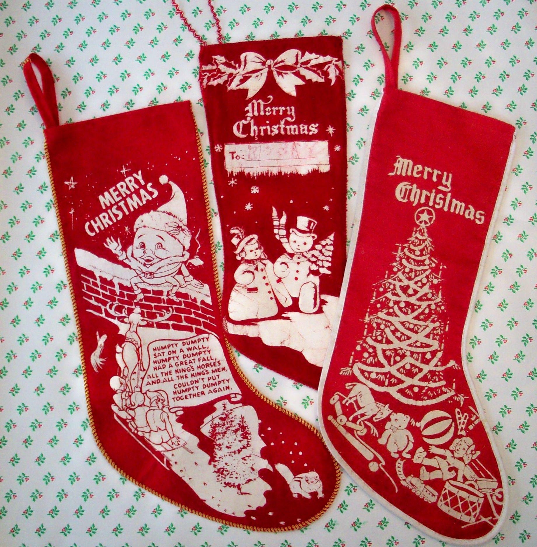 VTG CHRISTMAS STOCKINGS