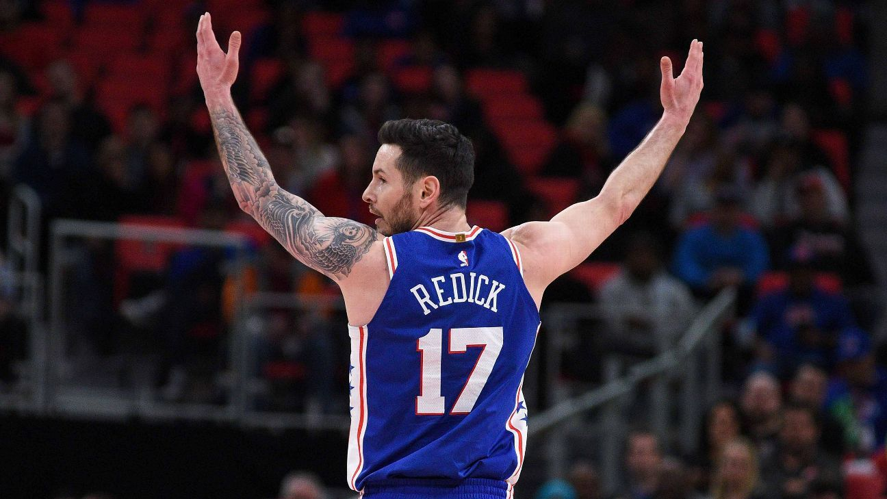 Sources Sixers resign Redick to 1year deal