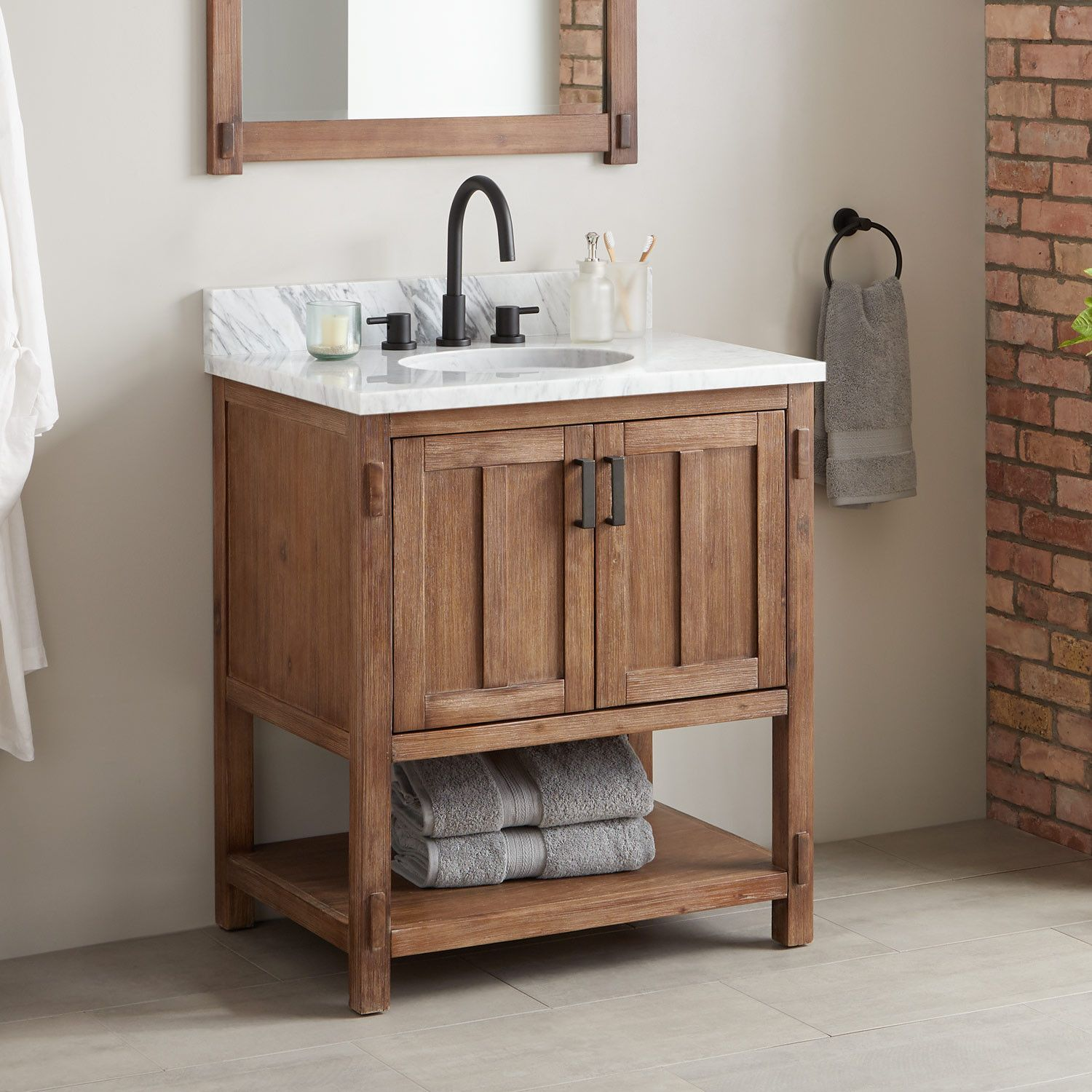 Console Vanity For Undermount Sink