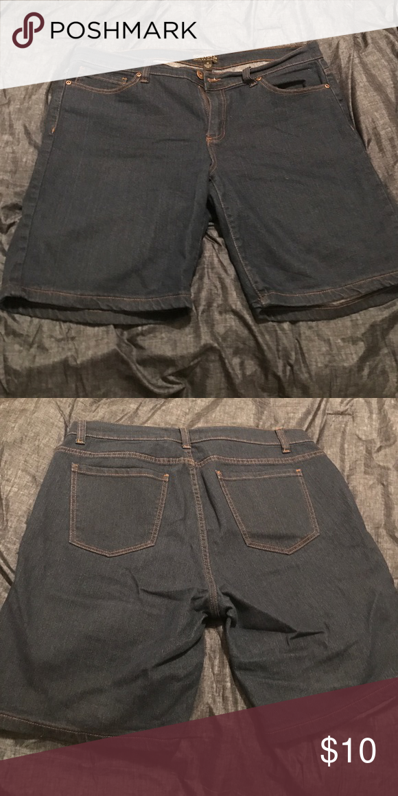 Forever 21+ Bermuda jean shorts Forever 21+ Bermuda jean shorts. Worn once, great condition. Size 18. Forever 21 Shorts Bermudas