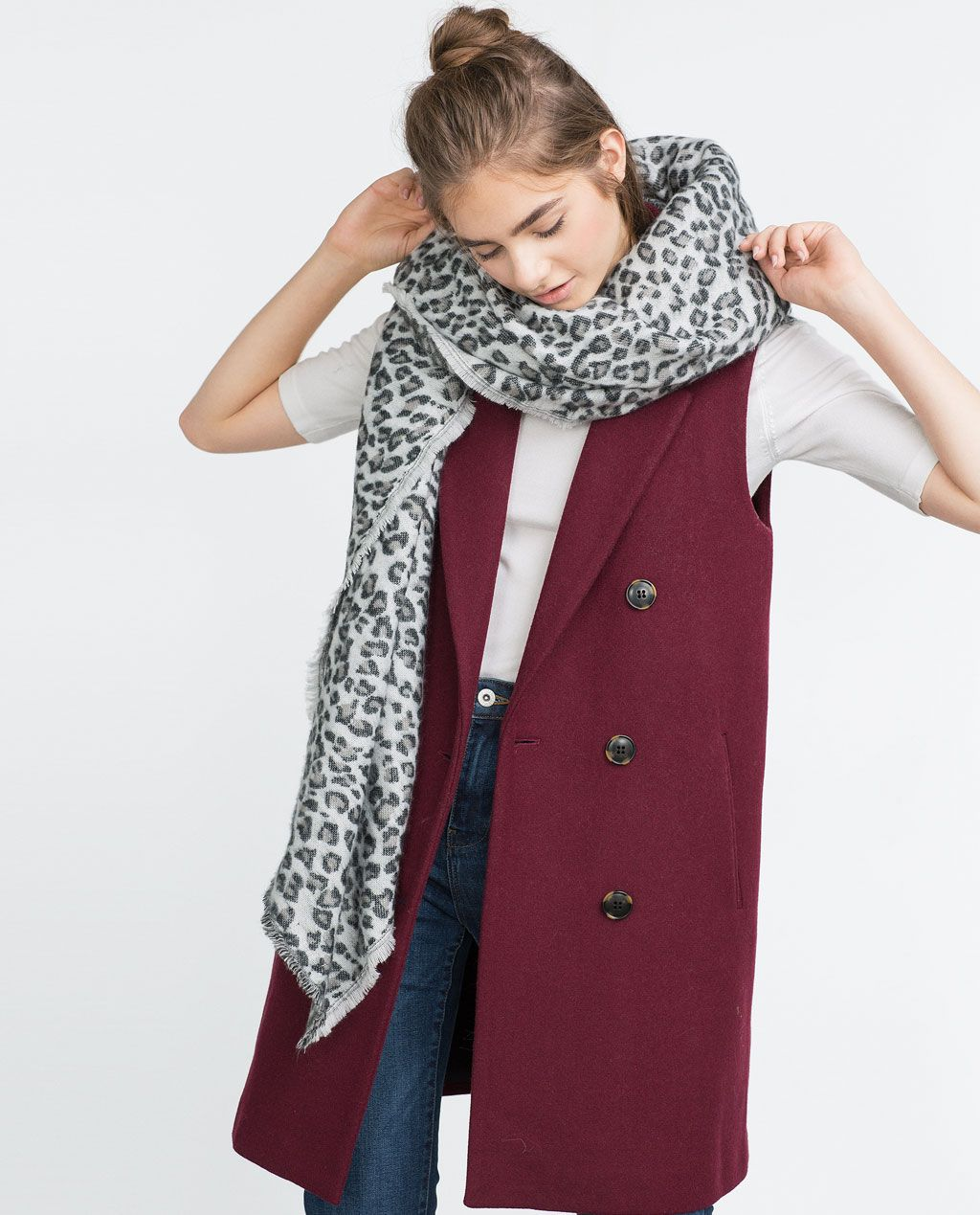 cd499d1825 15 Scarves We Want for Winter Now  Animal print scarf from Zara ...