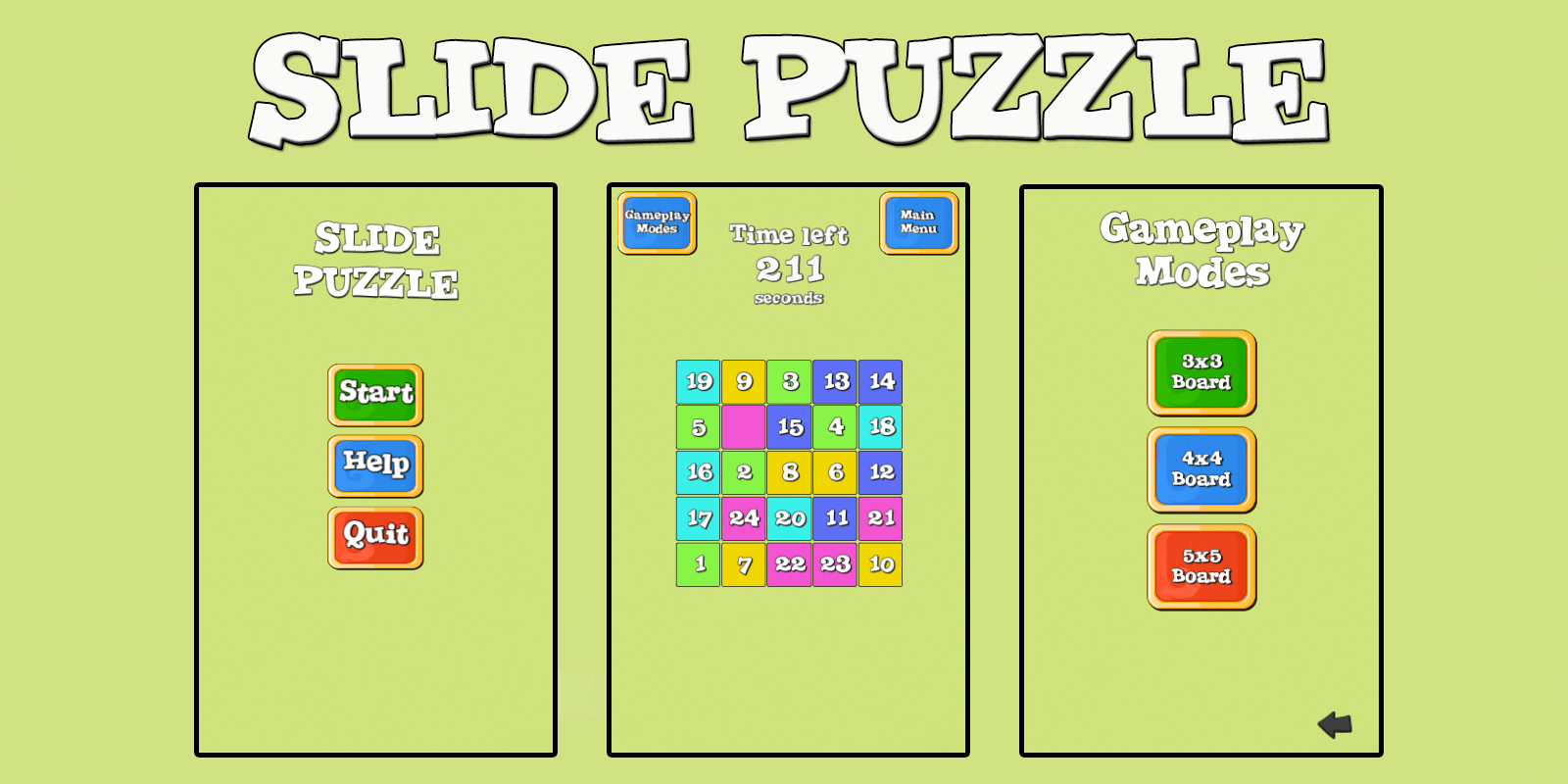 Slide Puzzle Unity3D Project | Marketplace to Buy Unity3D
