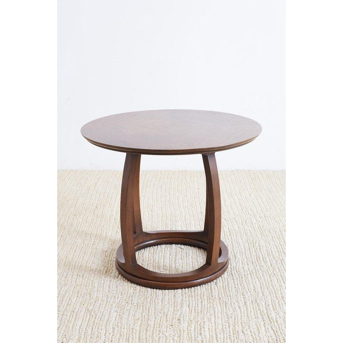 Round Mahogany Side Table Or Tabouret With Images Side Table