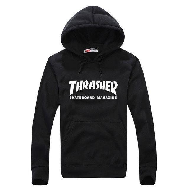 348d3853b125 Winter Clothes Fleece Trasher Hoodie Hip Hop Skateboard thrasher Hoodie Men  Sweatshirts Pullover Track suit Element Hoodies