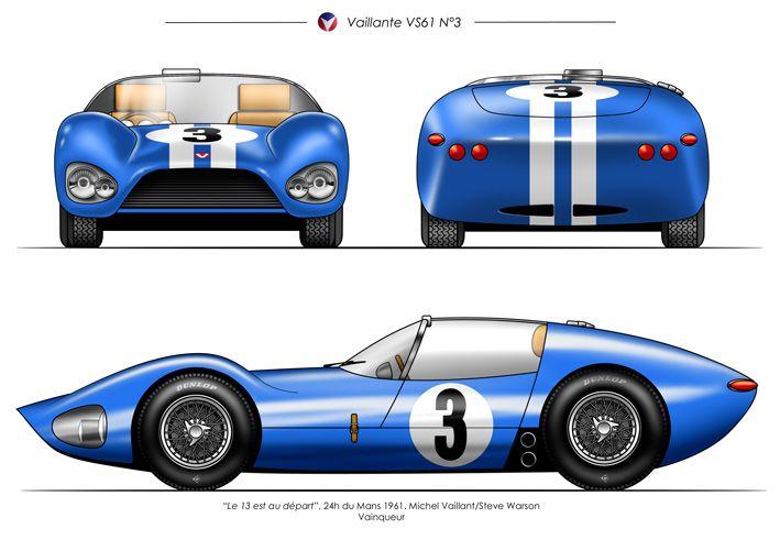 VAILLANTE VS61   Michel vaillant, Croquis voiture, Auto