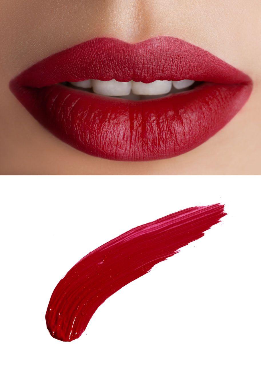 In No Time Matte Liquid Lipstick In Dark Red Glossier Lipstick