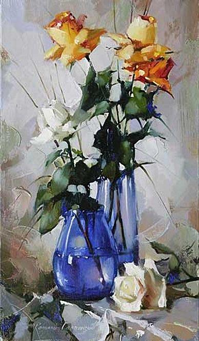 Still life with roses \\ Gappasov Ramil.