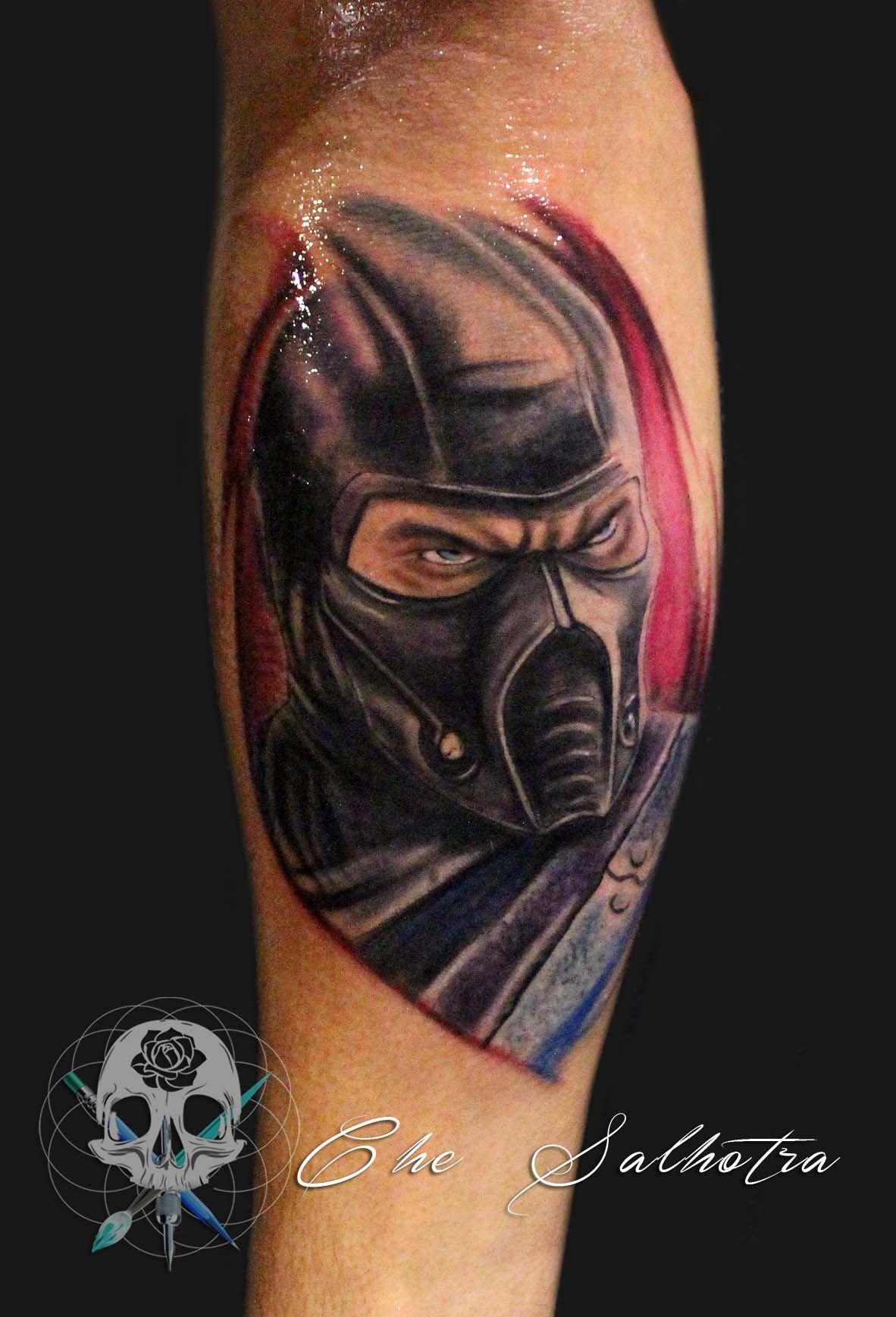 Sub-zero from the mortal kombat | Tattoos, Tattoo