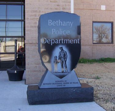 Bethany Police Department Sign Police Department Granite Sign Police