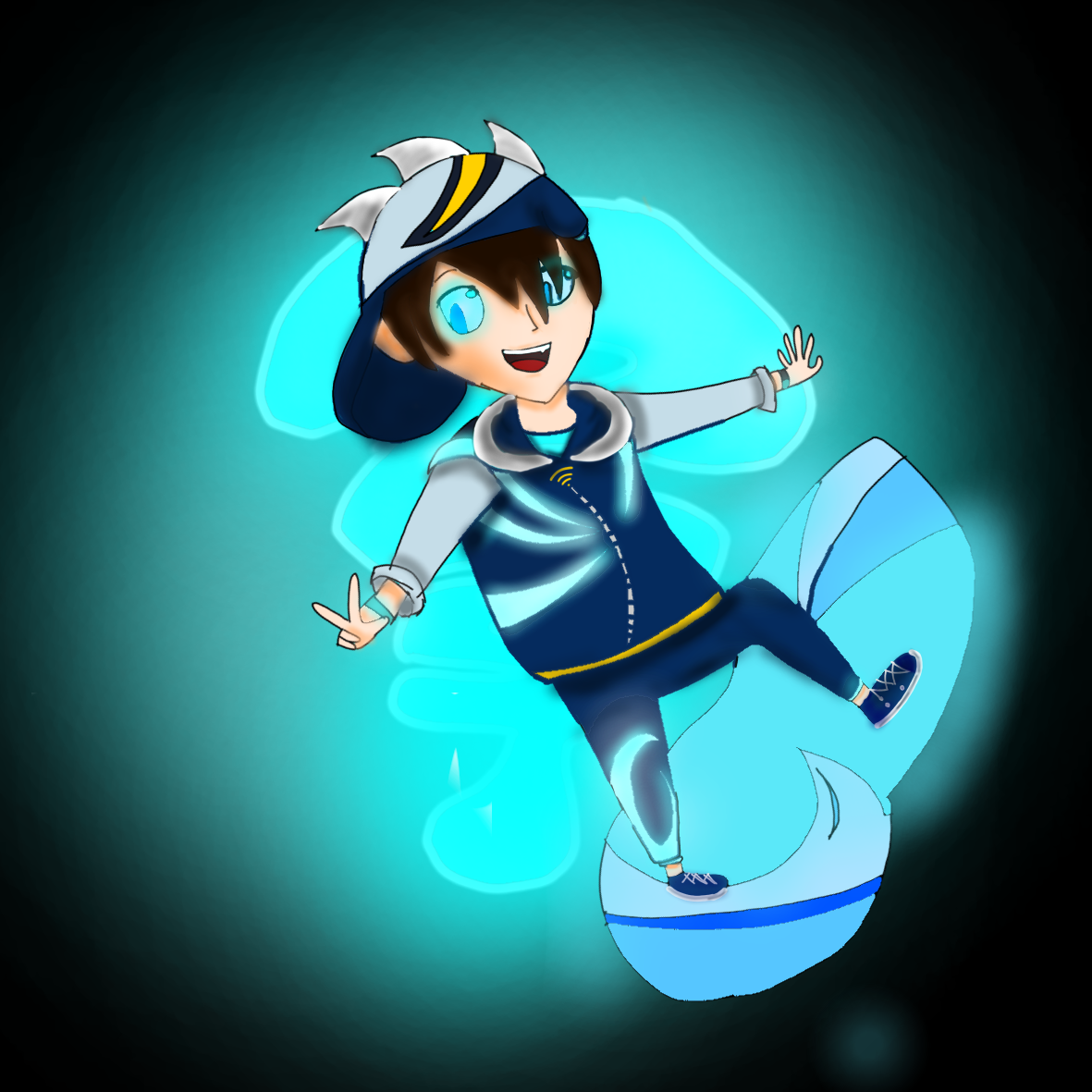 I just drew this Boboiboy Cyclone By Sparkle Cipher