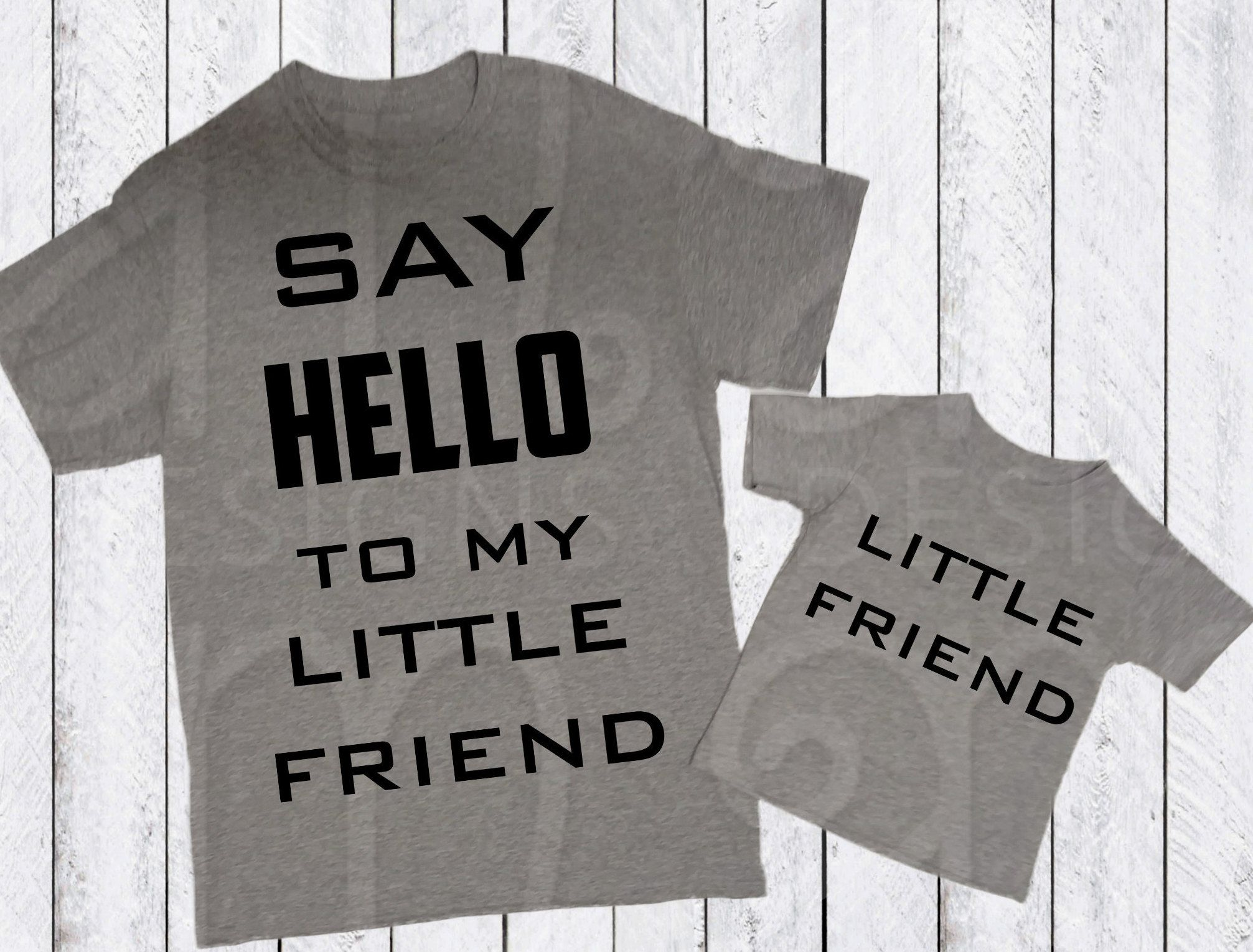 Daddy And Me Svg Little Friend Svg Say Hello Father S Day Svg Fathers Day Svg Gift For Him Dad Gift Dad And Me Svg Files For Cricut Dad To Be Shirts