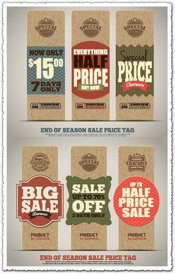 Out Of Season Label : season, label, Season, Price, Sign,, Retail, Signs,, Signage