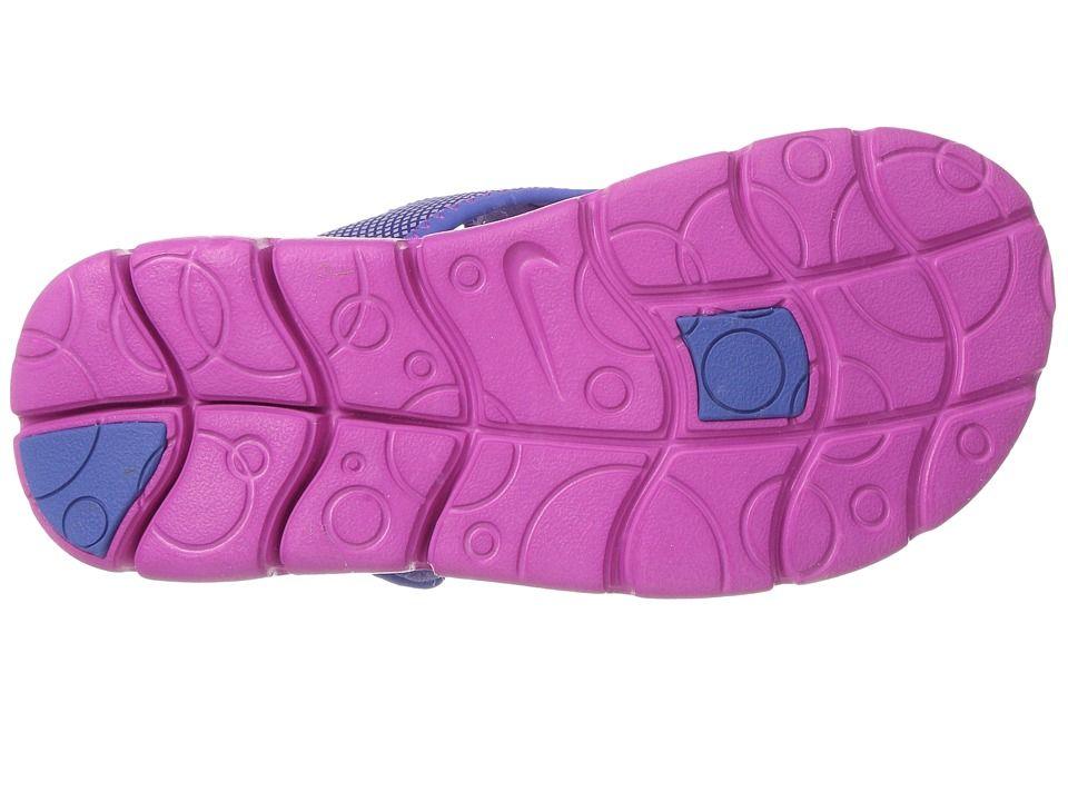 d8afaefb9478 Nike Kids Sunray Adjust 4 (Little Kid Big Kid) Girls Shoes Hydrangeas Fire  Pink Comet Blue