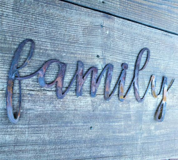 Wall Signs Decor Custom Save 10% Family Signs Farmhouse Wall Decor Metal Words Rustic Design Inspiration