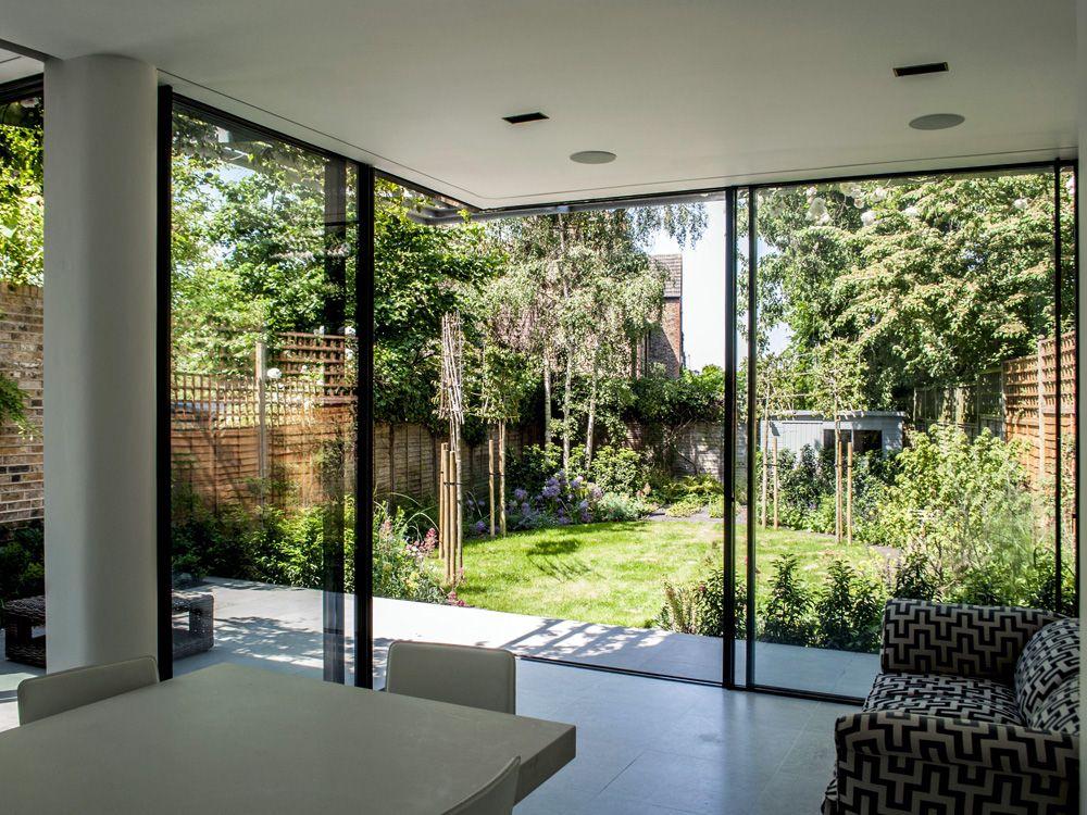 Charles Barclay Architects Minimal Windows Sliding Glass Door Glass Door