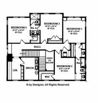 Colonial Style House Plan 5 Beds 3 5 Baths 4457 Sq Ft Plan 1058 9 Colonial House Plans House Plans Colonial Style Homes