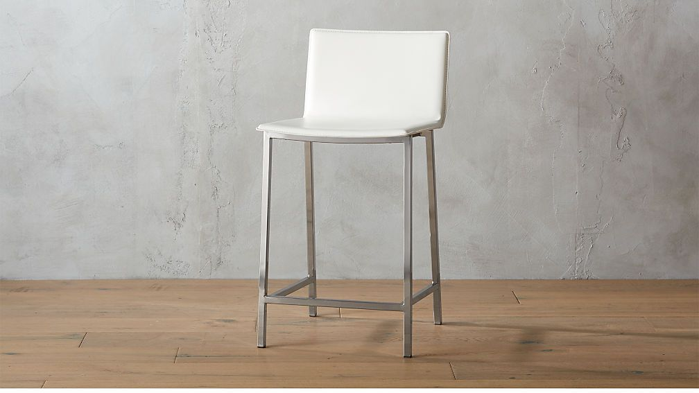 Phoenix Ivory 24 Counter Stool Reviews Cb2 Leather Counter