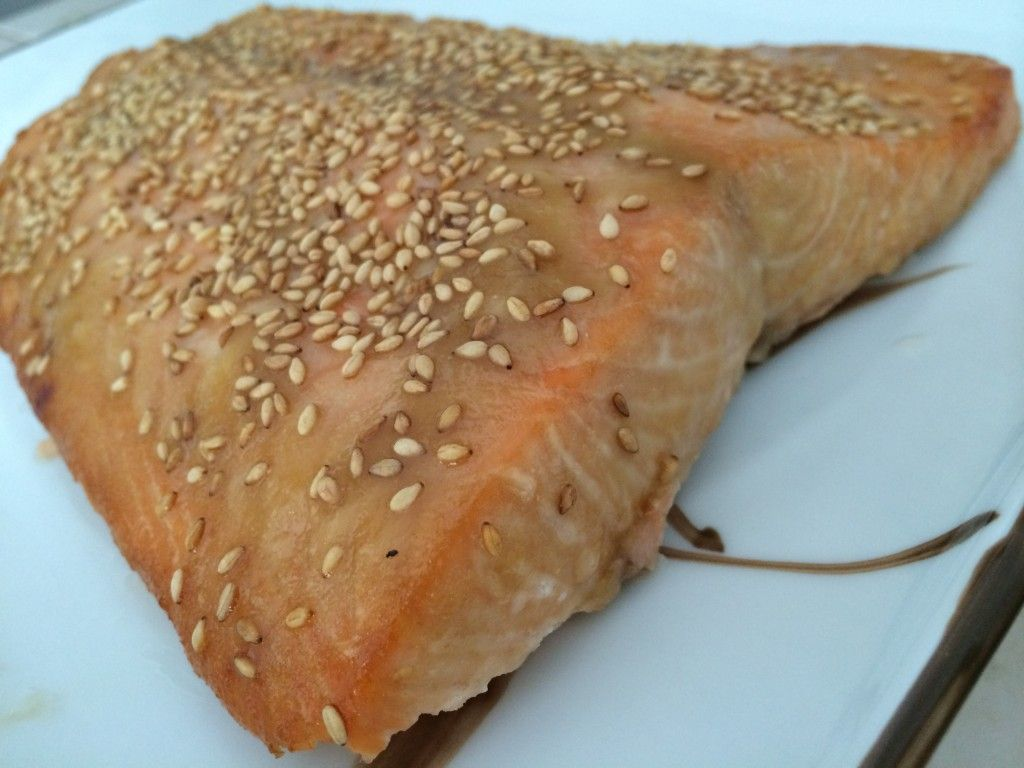 30 min honey sesame baked salmon