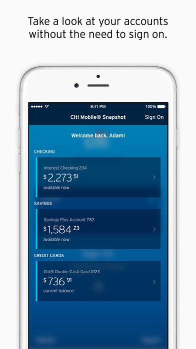 Citibank mobile