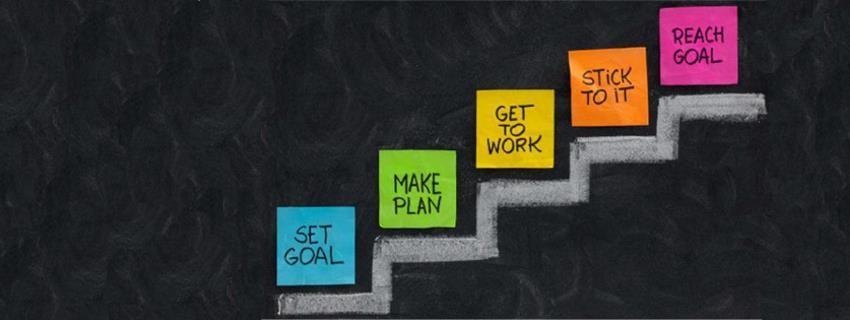 Set Goal Make Plan Get to Work Stick to It Reach Goal