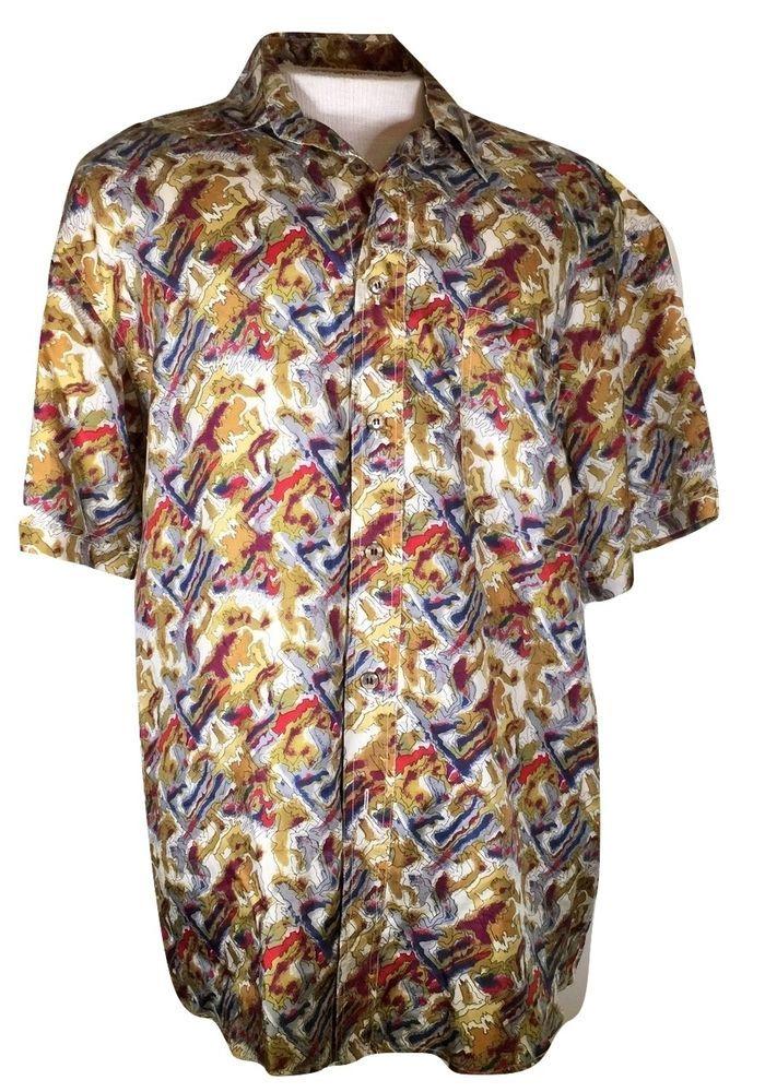 9942fe509c Jerry J Garcia Vintage Silk Camp Shirt Size M Grateful Dead Deadheads Rare   JGarcia  CampShirt