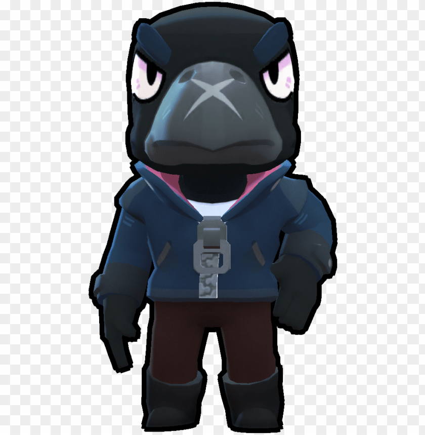 Crow Brawlers Crow Brawl Stars Png Image With Transparent Background Png Free Png Images In 2020 Crow Star Character Brawl