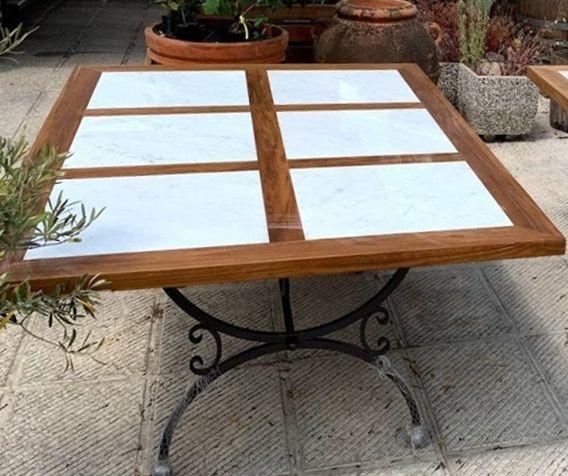 Tavolo da esterno con base in stile mediterraneo (con ...