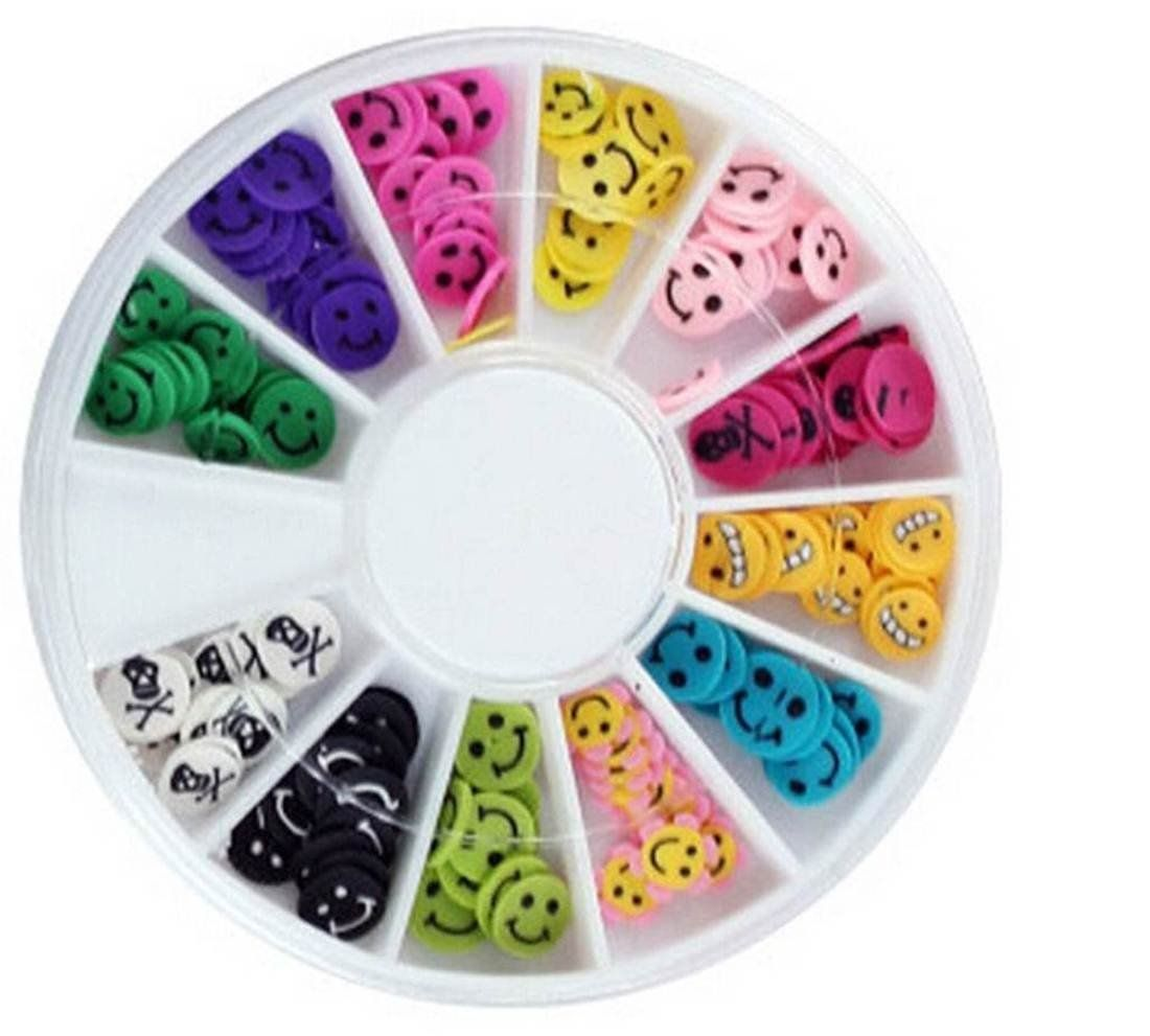 120PcsGrand Popular 3D Random Mixed Fimo Nail Art Wheel Polymer Clay ...