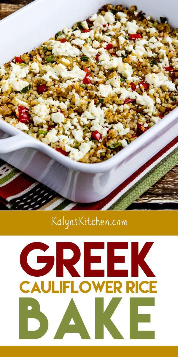 Photo of Greek Cauliflower Rice Bake – Kalyn's Kitchen