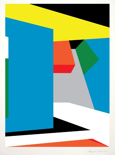 Contemporary Geometric Abstract Paintings by Bryce Hudson ...
