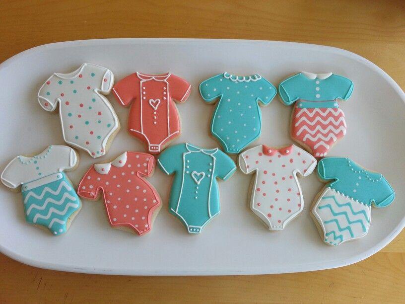 Baby onsies by Dyan Baby boy cookies, Cookie decorating