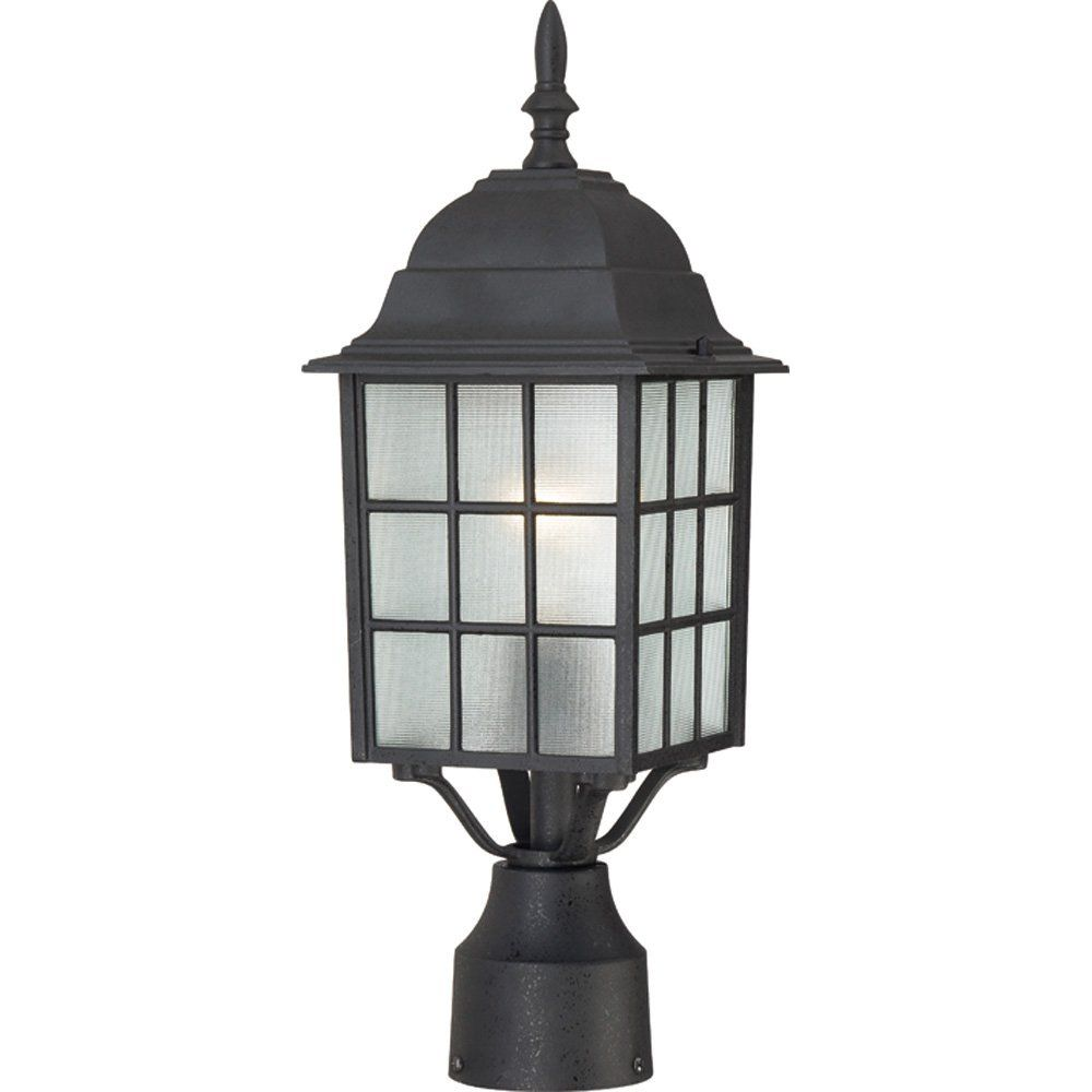 Light Post Lantern Frosted Glass Textured Black Outdoor Fixture Outdoor Post Lights Lamp Post Lights Outdoor Lamp Post Lights