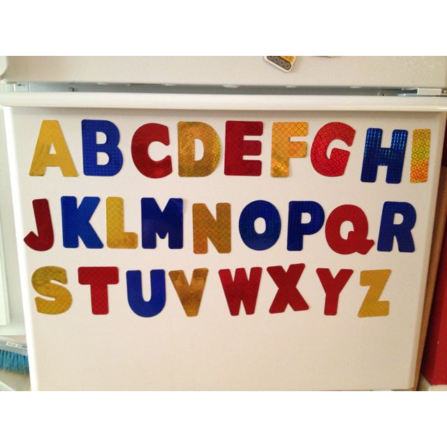 printable magnetic sheets from avery poster board letters spray glue homemade alphabet magnets