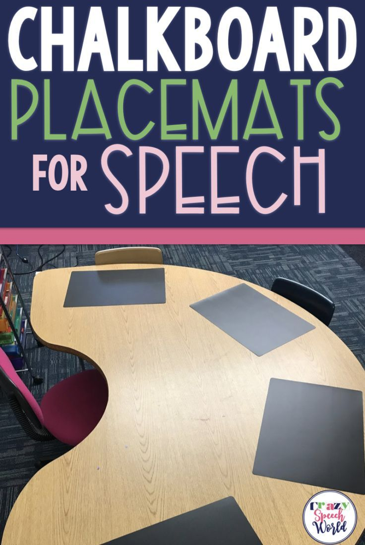 Speech Therapy Materials: Chalkboard Placemats images