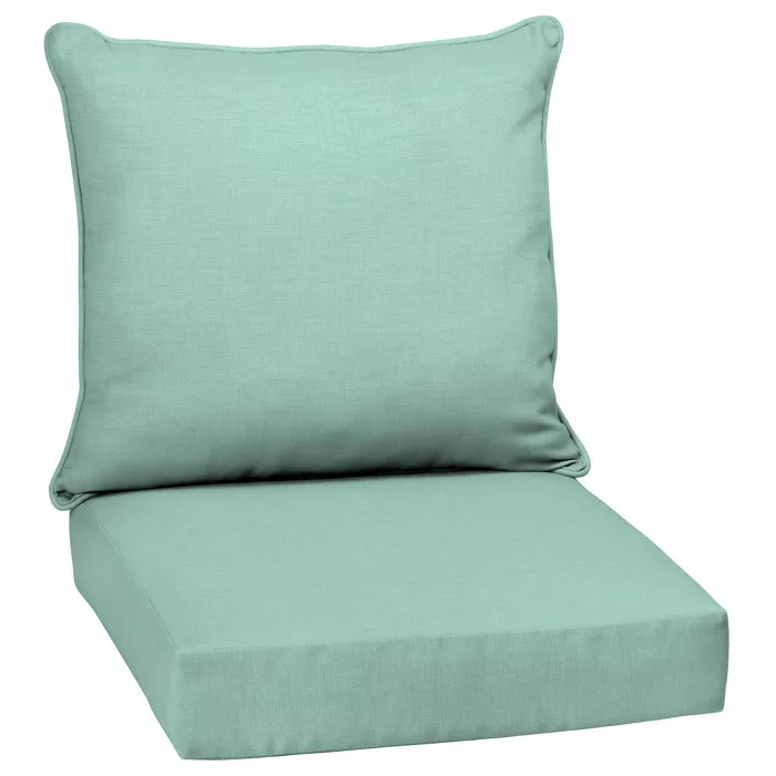 Leala Texture Deep Seat Outdoor Cushion Set Arden Selections In 2020 Outdoor Deep Seat Cushions Deep Seat Cushions Deep Seating