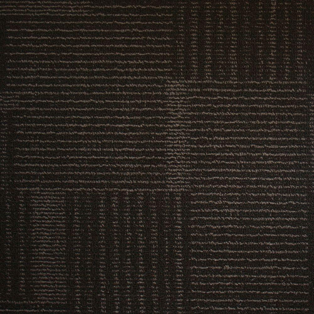Eurotile Windsor Terrace Ebony Loop 19 7 In X 19 7 In Carpet