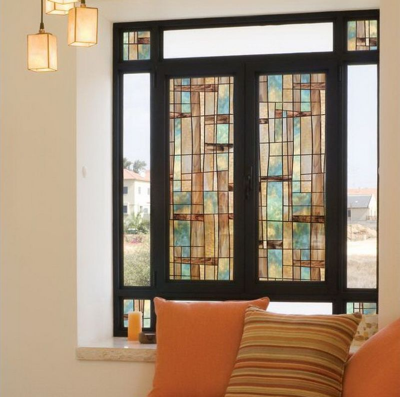 decorative window film stained glass | stained-glass-window-film