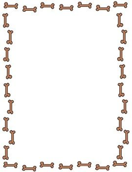 Free Fun Dog Bone Border In Both Jpeg And Png Formats Feel Free To Use