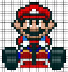 pixel art mario kart