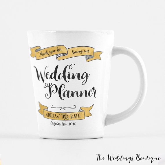 Wedding Planner Mug Customized Latte