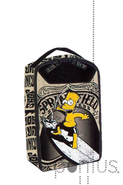 Bolsa c/asa p/desporto Simpsons just surf 20x33x10 | JB