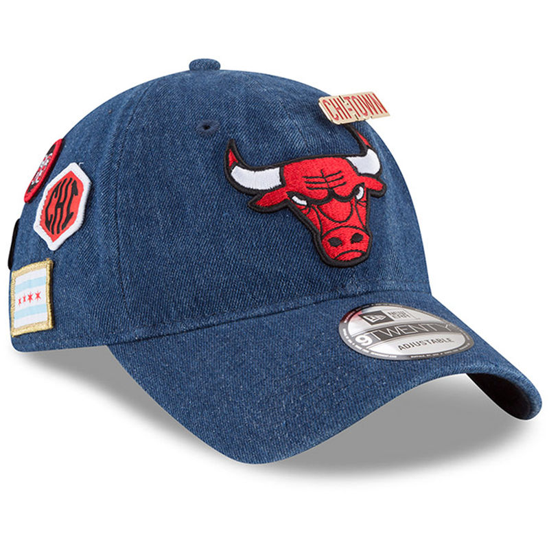 1df35495 Chicago Bulls New Era 2018 Draft 9TWENTY Adjustable Hat – Denim ...